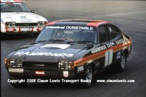 Ford Capri (Chris Craft and Vince Woodman). Photo   Mallory 28 Aug 1976 RAC Saloons
